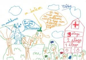 Dessin d'enfants - Côme 7 ans pour Alzjunior