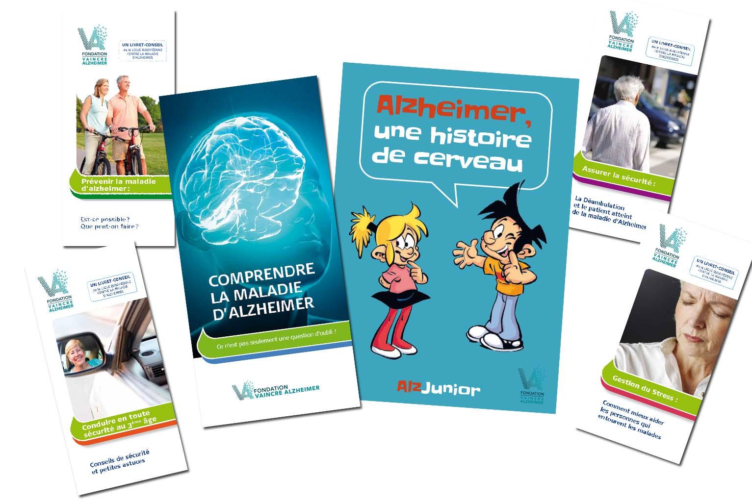 Brochures de la Fondation Vaincre Alzheimer
