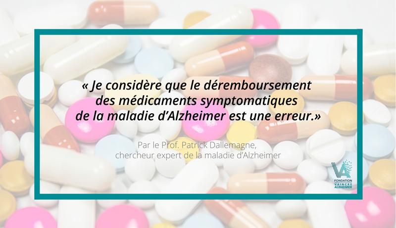 Déremboursement des traitements symptomatiques de la maladie d'Alzheimer : point de vue d'expert