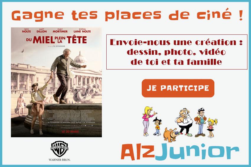 Tentez de gagner des places de cinéma lors du grand concours AlzJunior