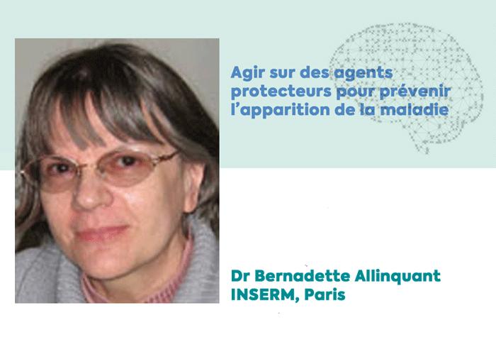 Bernadette Allinquant, lauréate d'une subvention de la Fondation Vaincre Alzheimer