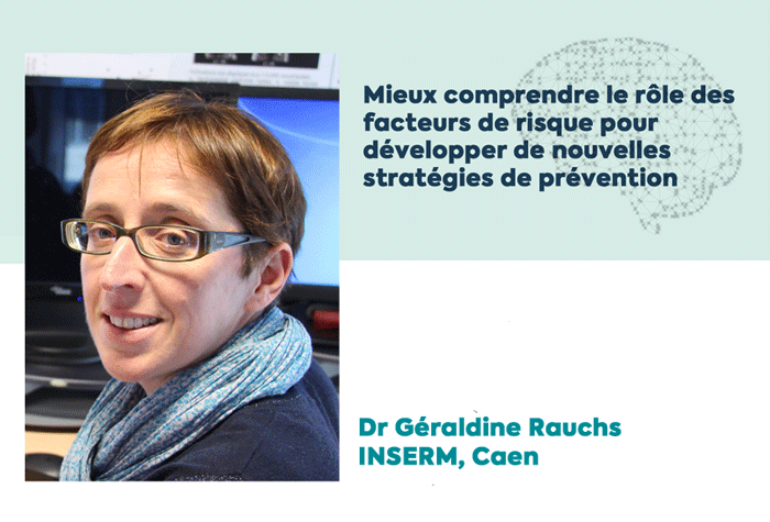 Géraldine Rauchs, lauréate d'une subvention de la Fondation Vaincer Alzheimer